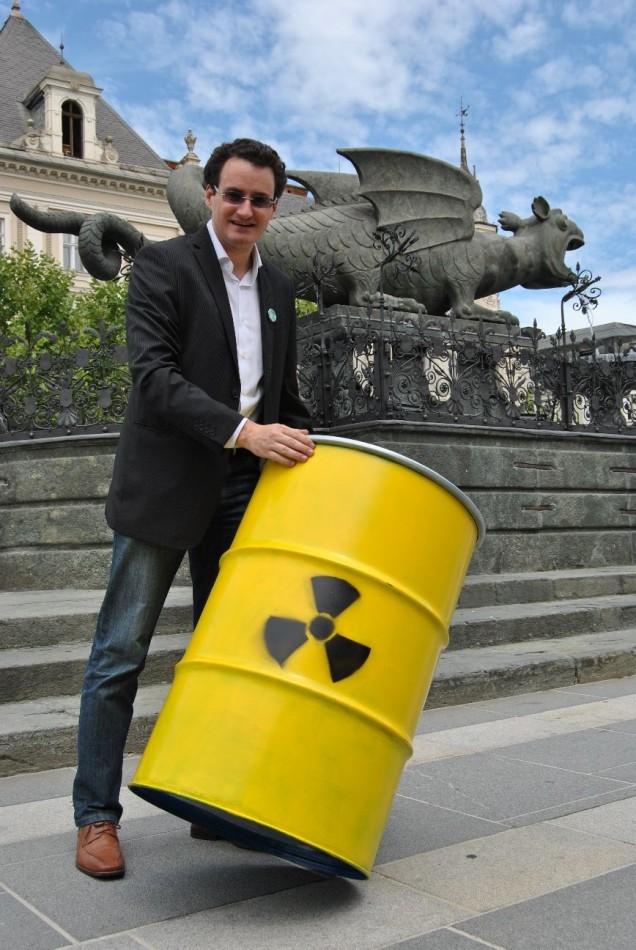 2 Jahre Fukushima-Jahrestag: 20 Prozent Atomstrom in Klagenfurt! 65 kg Klagenfurter Atommüll pro Jahr!