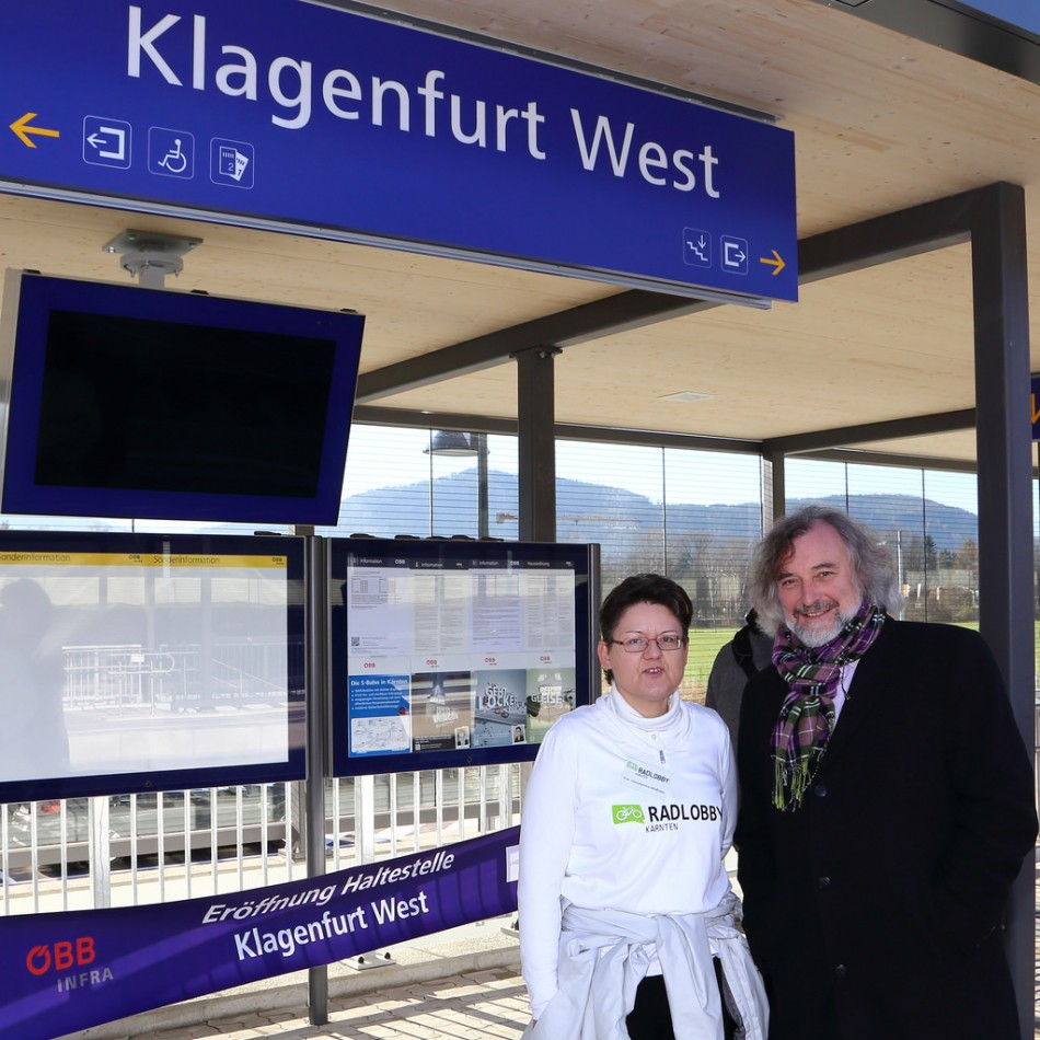 "Frey: Bahnhaltestelle ""Klagenfurt West"" eröffnet"